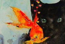 Cat Art / Cat-inspired art