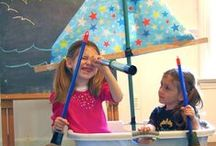 Pretend Play Ideas / Ideas to encourage pretend play and imagination