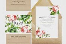 Wedding stationery / DIY printable wedding stationery