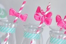 Paper Straws Galore / Vintage style paper straws come in heaps of colours and designs - here's some fun ideas for using them