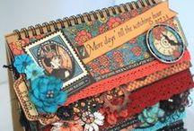 Mini album/journal scrapbooking / confection de mini album de scrapbooking / by Kathleen Paquin