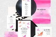 Paper crane / paper crane wedding inspiration