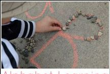 ABC Activities / Activities, learning games, sensory play, free printables and more to help your kids learn the alphabet