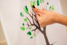 fingerprint guest book trees and more / fingerprint guest book trees, peacocks and more