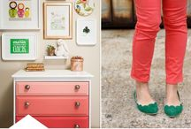 COLOR - Hunter Green & Peach / A fresh, new color combination.