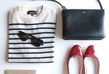 Flat Lay Fashion / Proof that I love jeans and stripes...