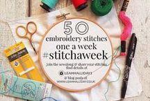 #stitchaweek 50 Embroidery Stitches