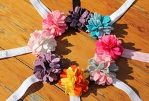 Children's Hair Accessories  / Beautiful and soft. Babies and Kids love to wear these sweet felt hair accessories / by Ally Sen