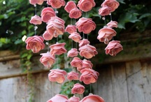 Beautiful and Unique Baby Mobiles / Rose felt mobiles with Swarovski Crystals / by Ally Sen