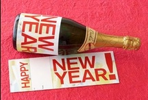 happy new year / decor, tradition, printable, games, activities, midnight clock, wine label, subway art, countdown, new year's eve, brunch, photo booth, poker party, happy new year / by Tiffany McNett Fisher