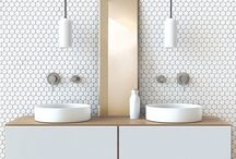Home | Bathroom / Smart storage, nice colours, fun ideas and great inspiration for my future bathroom.