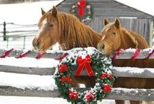 Country Christmas / Traditional country Christmas decor, decorations, design