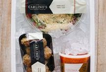 Pack Your Cooler / Just in time for Summer, it's Carlino's new 'Pack Your Cooler'! All items are boxed in one of our coolers, and are ready to travel with you. Featuring our Grilling Cooler, Dinner Cooler, Pasta Cooler, and Gelato Cooler.