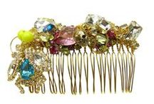 Hair Accessories by Jolita Jewellery / Hair accessories, all hand hand-made in our London studio. Created with colourful crystals, chains, beads, pearls and other materials.