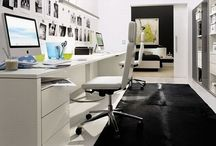 Office and Home Office / If you work at home - you understand a fact that you have your own home office. Here a collect some great ideas and looks of ideal home offices.
