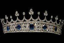 Tiary angielskie - Victorian saphire tiara