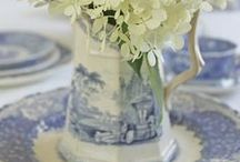 A Home of Blue and White / so pretty / by Kathy Stevens