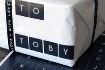 package wrapping, tags, notes / by Joy Burt