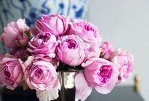 Decorating with Flowers / Ideas for decorating with flowers, especially pink peonies, orchids, and tulips.