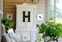 Porch Inspiration / Pretty porches galore!