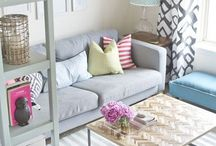 Small Space Chic / Chic ideas for decorating small spaces, including tiny apartments and rental apartments.