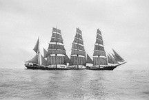 Sailing Ships & Boats / Large classic sailing ships such as battle ships. Also Sail boats, small and large. / by Jim Sharp