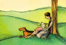 Books: Creatures Reading / Photos with animals, real and otherwise, involved with books or reading.