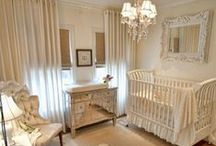 For the (Dream) Home: Nursery / sweet lambs, dark wood, cream linens, neutrals, gender neutral / by Therese Brooks