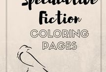 Spec Fiction Coloring Pages / Fantasy, Sci/Fi, Steampunk coloring pages because it makes me happy.
