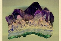 minerals, not rocks. / treasures of the earth, crystals, gems and stones / by Rachel Love Cameron
