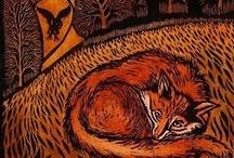 Art: Printmaking / Etching, Linocuts, Woodcuts - Edged Loveliness -  / by Patty Flagler