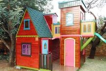 Kids Playhouses / Unique custom made wooden kids playhouses.  Different size, different options.