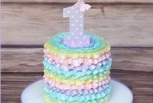 Cake Decorating - 1s and 2s (Girls) / cute cake ideas for 1 & 2 year old girls / by Rachel Christine