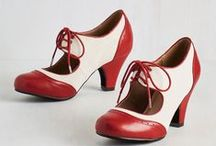 OMG Shoes / Vintage, retro, flatforms, dancing shoes, glitter, colour, lace, bows, flowers, heels, flats