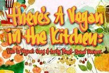 There's a Vegan in the Kitchen - Vegan Recipe Book / There's a Vegan in the Kitchen: Viva la Vegan's Easy and Tasty Plant-Based Recipes NEW hard cover book by Leigh-Chantelle.  See press release, blog, video and book sample: http://vivalavegan.net/community/updates/620-theres-a-vegan-in-the-kitchen-new-recipe-book-out-now.html