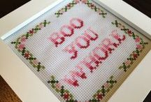 Bitchin' Stitchin' / Cross stitch that rocks.