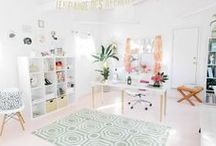 Office Space / Inspiring small office spaces.   / by Peta Stinson (Sapling Child)