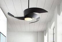 Chic + Modern Fans / A good fan's purpose is to fill and circulate a home or office with fresh and comfortable air. However, the perfect modern fan ties in the aesthetics of the space for a personal and chic touch. / by YLighting