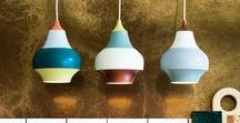 Color Pop / Add a pop of color to your space with these modern + colorful lighting fixtures.