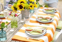 Tablescapes / The art of arranging for serving, meals and display.