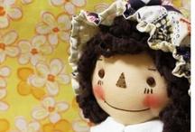 Bonecas: Modelos & Ideias / Bonecas de pano feitas à mão.