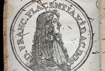 I Campeggiamenti degli scacchi, o sia Nvova disciplina d'attacchi, difese e partiti del givoco ... / Francesco Piacenza, fou un gran jugador d'escacs. Encara que la seva obra en el seu temps no va tenir ressò, avui és un important referent per conèixer la tàctica i teoria del joc dels escacs al segle XVII. Inventà un tauler de 100 caselles i introduí dues figures: el centurió i decurió. L'obra de 1683 presenta un retrat xilogràfic de l'autor, un escut i tres gravats de taulers d'escacs.  Al CCPBE només figura l'exemplar de la Universitat de Barcelona.
