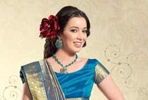 Blue Sarees Online /  Fashionable & beautiful Blue Saree collection exclusively curated by Utsav Fashion.