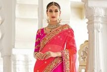 Lehenga Style Saree / The lehenga saree does combine the charm of a saree along with the splendor of lehenga thereby making it a perfect outfit for women who wish to look traditional as well as modern.