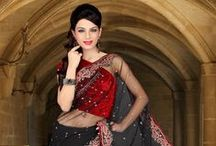 Black Sarees Online / Timeless and classy, the color Black exudes power and strength. Indulge in our magical assortment of Classy Black Sarees. / by Utsav Fashion
