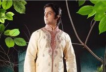 Men's Kurta / A whole range of men's kurtas can stimulate the Indian ethos in any man. You could be the kurta pyjama type and preen in a white cotton ensemble. You could even go in for a regal churidar kurta or pathani suit in rich colors like wine, navy blue, black, grey and purple. If the pathani suit is more your style, the raw silk pathani will steal your heart. Available in a range of colors and fabrics, our collection of men's kurtas is about love at first sight! / by Utsav Fashion