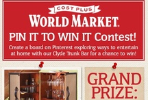 World Market's Pin It To Win It Contest / The steamer trunk reminds me of travel reminds me of the beach!  I will call my trunk Brian's Wanna be at the Beach Bar.  Here I can unwind, be zany, be on vacation, and invite my friends to enjoy my weird little world...often!  Enjoy my descriptions of life at Brian's Wanna be at a Beach Bar! Cheers! / by Brian Smith