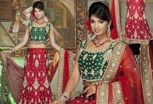 Bridal Lehengas Online / Indian wedding is an auspicious occasion and a very special moment for the groom and the bride. Bridal lehengas online are available in different style and patterns to go right with the body type of the bride. This astounding dress enhances the beauty of the bride. / by Utsav Fashion