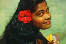 """Vintage Vahines / For centuries, the intrigue surrounding the South Seas was often attributed to one thing — the beauty of the Tahitian """"vahine."""" / by Tahiti.com"""