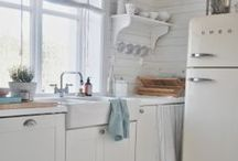 Kitchen / Kitchens...vintage, retro, deco, cottage, shabby, rustic, salvage, country, farmhouse, elegant... / by Anne-Marie